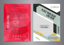 Σύνολο διανύσματος προτύπων σχεδιαγράμματος σχεδίου επιχειρησιακών ιπτάμενων A4 στο μέγεθος Στοκ Φωτογραφία