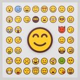 Σύνολο διανύσματος emoticon στο άσπρο υπόβαθρο Διάνυσμα Emoji Συλλογή εικονιδίων χαμόγελου Απεικόνιση αποθεμάτων