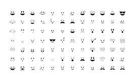 Σύνολο διανύσματος Emoticon Στοκ Εικόνες