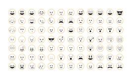 Σύνολο διανύσματος Emoticon Στοκ Φωτογραφίες