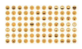 Σύνολο διανύσματος Emoticon Στοκ Φωτογραφία