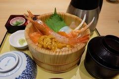 Σύνολο ιαπωνικών τροφίμων Στοκ εικόνες με δικαίωμα ελεύθερης χρήσης
