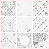 Σύνολο διαστιγμένων αφηρημένων μορφών Στοκ Φωτογραφίες