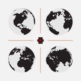 Σύνολο διαστιγμένων παγκόσμιων χαρτών στο διαφορετικό ψήφισμα Στοκ φωτογραφία με δικαίωμα ελεύθερης χρήσης