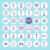 Σύνολο ιατρικών και εικονιδίων υγειονομικής περίθαλψης ελεύθερη απεικόνιση δικαιώματος