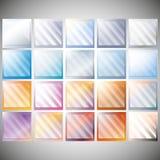 Σύνολο διαφανούς γυαλιού στα υπόβαθρα χρώματος Στοκ φωτογραφία με δικαίωμα ελεύθερης χρήσης