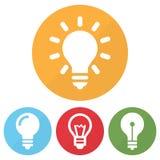 Σύνολο διαφορετικού εικονιδίου lightbulb κύκλοι επίσης corel σύρετε το διάνυσμα απεικόνισης διανυσματική απεικόνιση