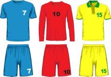 Σύνολο διαφορετικού ποδοσφαίρου ομοιόμορφο διάνυσμα Στοκ φωτογραφία με δικαίωμα ελεύθερης χρήσης