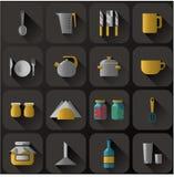 Σύνολο διαφορετικού σκεύους για την κουζίνα Στοκ Φωτογραφίες