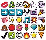 Σύνολο διαφορετικού Emojis που απομονώνεται στο άσπρο υπόβαθρο Στοκ φωτογραφίες με δικαίωμα ελεύθερης χρήσης
