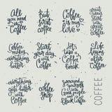 Σύνολο διαφορετικών αποσπασμάτων για τον καφέ Στοκ Φωτογραφία