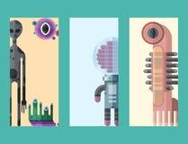 Σύνολο διαφορετικών αστείων χαριτωμένων αλλοδαπών χαρακτήρων καρτών τεράτων κινούμενων σχεδίων και ευτυχούς διαβόλου απεικόνισης  Στοκ φωτογραφία με δικαίωμα ελεύθερης χρήσης