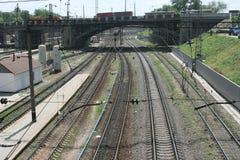 Σύνολο διαδρομών σιδηροδρόμων Στοκ εικόνες με δικαίωμα ελεύθερης χρήσης