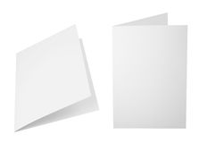 Σύνολο διπλωμένων A4 φύλλων εγγράφου Στοκ Εικόνες