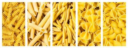 Σύνολο ιταλικών ζυμαρικών συλλογής, σύσταση υποβάθρου Στοκ φωτογραφία με δικαίωμα ελεύθερης χρήσης