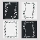 Σύνολο κάθετων πλαισίων σκιαγραφιών Στοκ εικόνα με δικαίωμα ελεύθερης χρήσης