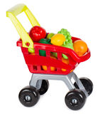 Σύνολο κάρρων αγορών παιχνιδιών των φρούτων Στοκ φωτογραφίες με δικαίωμα ελεύθερης χρήσης