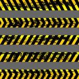 Σύνολο κίτρινων ταινιών προσοχής grunge - απομονωμένη απεικόνιση Στοκ φωτογραφίες με δικαίωμα ελεύθερης χρήσης