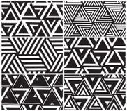 Σύνολο καθολικού διανυσματικού γεωμετρικού άνευ ραφής σχεδίου Στοκ φωτογραφίες με δικαίωμα ελεύθερης χρήσης
