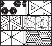 Σύνολο καθολικού διανυσματικού γεωμετρικού άνευ ραφής σχεδίου Στοκ Εικόνες