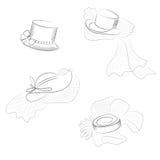 Σύνολο καπέλων Στοκ Εικόνες