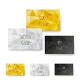 Σύνολο καρτών ασφαλίστρου δομών σχεδίων κρυστάλλου Στοκ Εικόνες