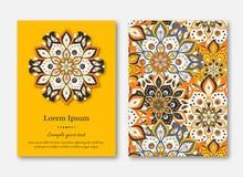 Σύνολο καρτών, ιπτάμενα, φυλλάδια, πρότυπα με συρμένο το χέρι manda απεικόνιση αποθεμάτων