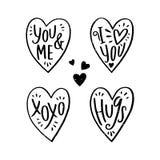 Σύνολο καρτών με την καρδιά Διανυσματική απεικόνιση