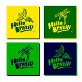 Σύνολο καρτών της Βραζιλίας με το λογότυπο Στοκ φωτογραφία με δικαίωμα ελεύθερης χρήσης