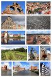 Σύνολο καρτών του Γντανσκ Στοκ εικόνες με δικαίωμα ελεύθερης χρήσης