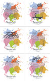 Σύνολο καρτών Cupcake Στοκ φωτογραφίες με δικαίωμα ελεύθερης χρήσης