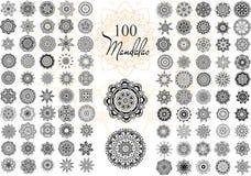 Σύνολο καρτών Mandala Στοκ Εικόνα