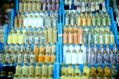 Σύνολο καρυκευμάτων στα μπουκάλια γυαλιού Στοκ φωτογραφίες με δικαίωμα ελεύθερης χρήσης