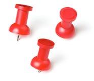 Σύνολο καρφιών καρφιτσών ή αντίχειρων ώθησης που απομονώνεται Στοκ εικόνα με δικαίωμα ελεύθερης χρήσης
