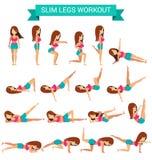 Σύνολο καρδιο άσκησης για τα λεπτά πόδια workout στοκ φωτογραφίες με δικαίωμα ελεύθερης χρήσης