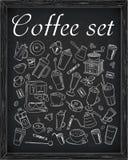 Σύνολο καφέ & εξαρτημάτων καφέ Στοκ εικόνες με δικαίωμα ελεύθερης χρήσης