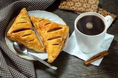 Σύνολο καφέ πρωινού Στοκ εικόνα με δικαίωμα ελεύθερης χρήσης