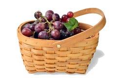 Σύνολο καλαθιών των σταφυλιών φρούτων Στοκ εικόνες με δικαίωμα ελεύθερης χρήσης