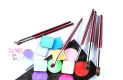 Σύνολο καλλυντικών προϊόντων για το επαγγελματικό makeup Στοκ Εικόνες