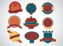 Σύνολο κενών αναδρομικών εκλεκτής ποιότητας διακριτικών και του labels.eps10 Στοκ εικόνες με δικαίωμα ελεύθερης χρήσης