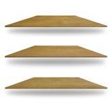 Σύνολο κενών ξύλινων ραφιών Στοκ φωτογραφία με δικαίωμα ελεύθερης χρήσης