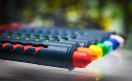 Σύνολο κεριών κραγιονιών μολυβιών Στοκ εικόνα με δικαίωμα ελεύθερης χρήσης