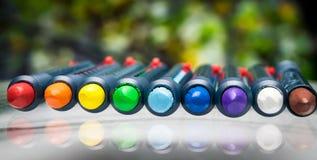 Σύνολο κεριών κραγιονιών μολυβιών Στοκ Φωτογραφία