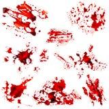 Σύνολο κηλίδας αίματος Στοκ φωτογραφία με δικαίωμα ελεύθερης χρήσης