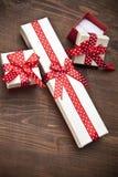 Σύνολο κιβωτίου δώρων με το αρσενικό ελάφι Στοκ φωτογραφία με δικαίωμα ελεύθερης χρήσης