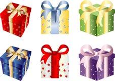 Σύνολο κιβωτίων δώρων Χριστουγέννων Στοκ φωτογραφία με δικαίωμα ελεύθερης χρήσης