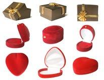 Σύνολο κιβωτίων δώρων Στοκ Εικόνα