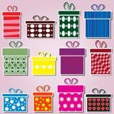 Σύνολο κιβωτίων δώρων Στοκ Φωτογραφία