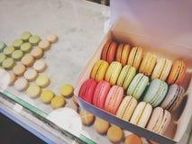 Σύνολο κιβωτίων Macarons Στοκ Εικόνες