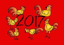 Σύνολο κινεζικών Zodiac κοκκόρων Στοκ εικόνες με δικαίωμα ελεύθερης χρήσης